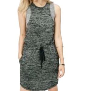 Lou & Grey Gray Sleeveless Drawstring Waist Dress